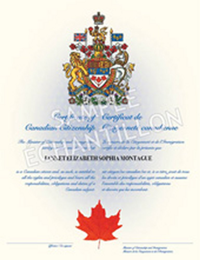 Canadian Citizenship Card Replacement Immigroup We Are