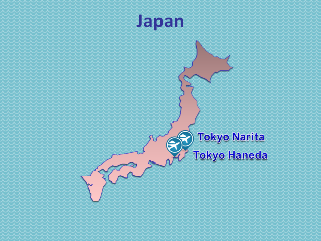TWOV Participating Airports in Japan