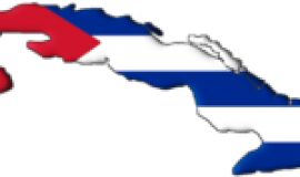 Map of Cuba with flag superimposed via https://commons.wikimedia.org/wiki/File:Cuba_flag.png?uselang=en-gb