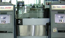 Global Entry Kiosks at an airport via https://commons.wikimedia.org/wiki/File:Global_Entry_Kiosk.jpg